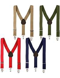 Bundle Monster Kids Skinny tirantes Y-back ajustable tirantes de clip 4piezas