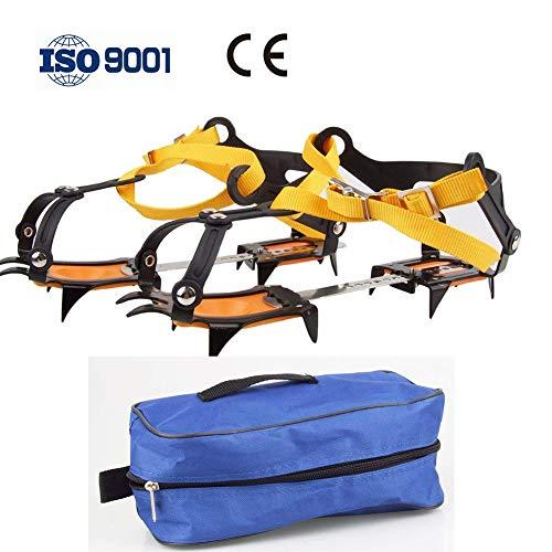 RISILAYS 1 Paar 10 Zähne Stahl Anti Rutsch EIS Traktion Verstellbar Slip On Stretch Fit Schnee EIS...