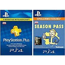 Fallout 4 - Season Pass [Spielerweiterung] + PS Plus Mitgliedschaft 3 Monate [PSN Code für österreichisches Konto]