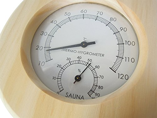 Relsuna Sauna Thermometer in Tropfen-Form aus Holz -