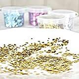 Confeti de lentejuelas doradas, plateadas, azules, rosas, rojas, para decoración de uñas, decoración de bodas, fiestas, 10 g