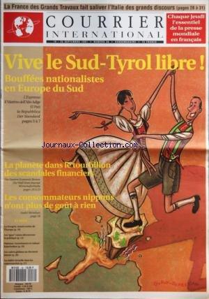 COURRIER INTERNATIONAL [No 46] du 19/09/1991 - LA FRANCE DES GRANDS TRAVAUX FAIT SALIVER L'ITALIE DES GRANDS DISCOURS - VIVE LE SUD-TYROL LIBRE - BOUFFEES NATIONALISTES EN EUROPE DU SUD - LA HONGRIE NOEUD ROUTIER DE LÔÇÖEUROPE - LES GAYS RUSSES DECOUVRENT LA POLITIQUE - PAKISTAN INVESTISSEURS ET CULTURE KALACHNIKOV - LES CADRES GLOBAUX NE DORMENT JAMAIS - LA REALITE VIRTUELLE DANS LES SUPERMARCHES - SOMMAIRE - BALISES - FIEVRE NATIONALISTE EN EUROPE DU SUD - EUROPES - GUERRE DU PETROLE EN YOUGO par Collectif