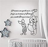adesivo murale bambini piccolo principe Preventivo Stickers da muro Promemoria You & acirc; & euro; ll Never Decal Piglet Winnie The Pooh Family Bedroom Nursery Baby Room
