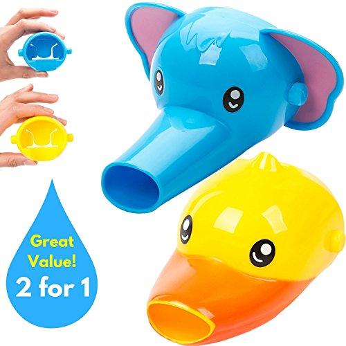 Wuzmei robinet Extender pour enfants – Lot de 2 Animal Bec Extendeurs pour lavabo pour robinets – à la main pour les bébés, les tout-petits et les enfants