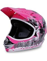 Motorradhelm X-treme Kinder Cross Helme Sturzhelm Schutzhelm Helm für Motorrad Kinderquad und Crossbike in pink