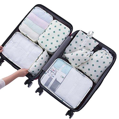 Etercycle - Organizador para maletas Style A, White Cactus
