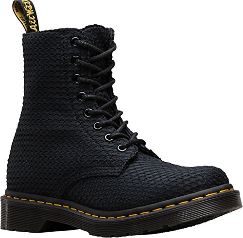 Dr. Martens PAGE Waffle Cotton Black Schwarz 8-Loch 22138001 Black