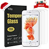 Ylife Panzerglas Schutzfolie Kompatibel iPhone 6 Plus iPhone 6s Plus, (3 Stück) 9H Härte Transparent Displayschutzfolie, 5.5 Zoll HD Panzerglasfolie, Anti-Bubble, Anti-Fingerabdruck, Anti-Kratz