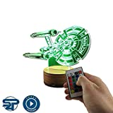 Stuff4Players Star Trek Dekolampe USS Enterprise NCC-1701 (3D-Hologramm Illusion)