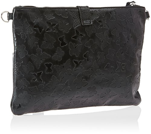 Chicca Borse Damen 1544 Henkeltasche, 25x16x7 cm Nero (Black)