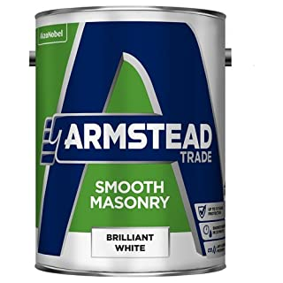 Armstead Trade Smooth Masonry Paint White 5 Litres