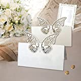 48 Pack Laser Cut Butterfly Vine Wedding Table Number Name Place Card Wedding Party Decoration Favour