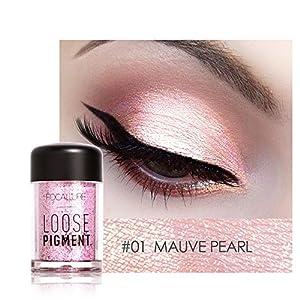 ☺HWTOP 12 Farben Lidschatten Makeup Perle Metallic Lidschatten-Palette