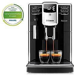 Saeco HD8911/01 Incanto Kaffeevollautomat (1850 Watt, AquaClean, klassischer Milchaufschäumer) schwarz