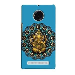 ColourCrust Micromax Yuphoria Mobile Phone Back Cover With Lord Ganesha Ganpati Devotional - Durable Matte Finish Hard Plastic Slim Case
