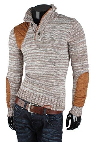 TAZZIO Herren Grobstrick Pullover Größe S-XXL Bison