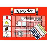 kids2learn Personalised Fireman Potty Training Reward Chart & 125 Stickers