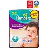 Pampers Taille 4 Pack Actif Des Couches D'Ajustement Mensuel - 168 Couches -