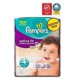 Pampers Active Fit Windeln Größe 4 Monatspackung - 168 Windeln - Packung mit 2