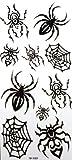SPESTYLE wasserdicht ungiftig temporäre Tätowierung stickersWaterproof temporäre Tattoos Spinne Insekt schwarz