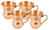 IndianArtVilla Set of 4 Pure Copper Glas...