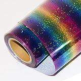 Hoho holographique Laser transfert de chaleur en vinyle brillant Couleur sur papier d'impression film DIY Tissus (50cmx100cm) 50cmx100cm Multi silver