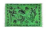 Riesen Auswahl - Sarong Pareo Wickelrock Handtuch Strandtuch Wickelkleid Schmetterling Design Handarbeit Made by EL - Vertriebs GmbH, Gecko Dunkel Grün Gtdg, 170 cm x 110 cm