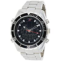 U.S. Polo Assn. US8211 Men's Quartz Watch, Analog-Digital Display and Stainless Steel Strap