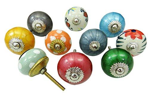 vintage-kinder-dresser-knob-hand-keramik-knopfe-schrank-pulls-painted