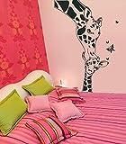 ilka parey wandtattoo welt Wandtattoo_Giraffe_ Babygiraffe_Schmetterling Wandaufkleber Wandsticker M663 (L 60cm x 100cm)