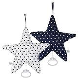 LITTLE DUTCH 5211 Spieluhr Stern dunkelblau mit weißen Sternen