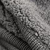 BEDSURE More than comfort Knitted Throw Blanket with Sherpa, Fuzzy Fleece Bed Throws for Sofa and Couch 130x150cm Dark Grey by Bedsure