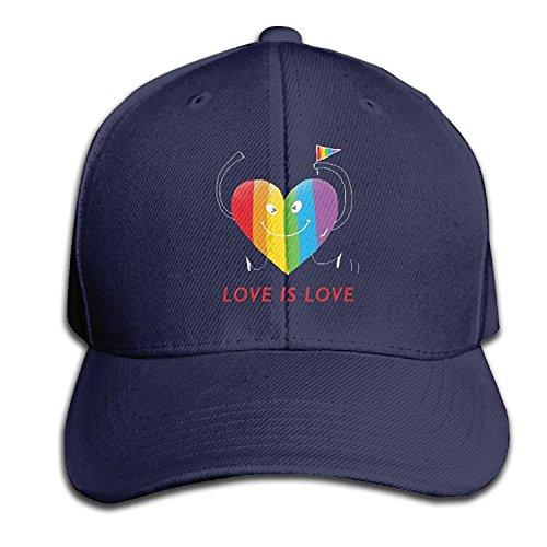 Linkla Danniol Hearts of Pride Mens&Womens Classic Style Comfortable Trucker Hat Baseball Cap
