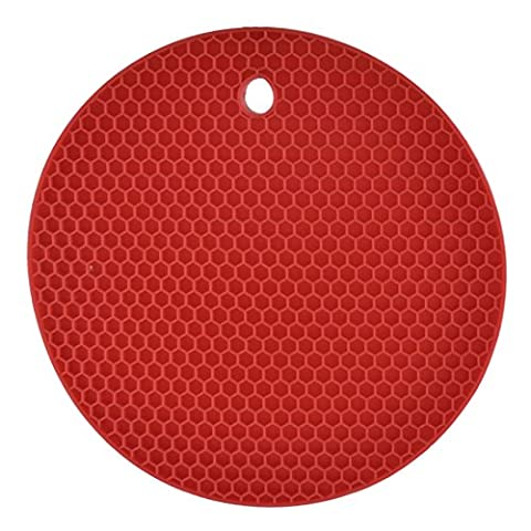 sourcingmap® Rubber Kitchen Nonslip Heat Insulated Hot Pot Mat Pad Coaster Red