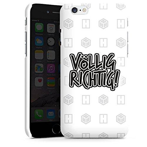 Apple iPhone X Silikon Hülle Case Schutzhülle der_hacki Fanartikel Merchandise völlig richtig Premium Case matt