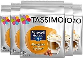 TASSIMO Café Maxwell House Macchiato goût Caramel 8 Tdisc - Pack de 5 (40 Tdisc)