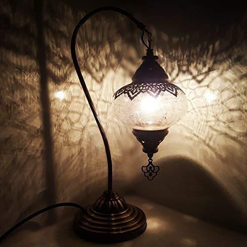 Turkish Lampe / Marokkanische Lampe Tiffany Stil Glas Schreibtisch Tisch Lampe - Ottoman Style Lamp -