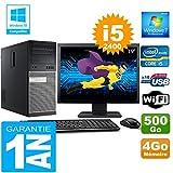 Dell PC Tour 7010 Core I5-2400 Ram 4Go Disque 500 Go WiFi W7 Ecran 19'