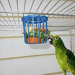 Jiamins Mangeoire à Oiseaux Mangeoire Perroquet, Mangeoire pour Aliments et legumes - Peut fixé sur Cage