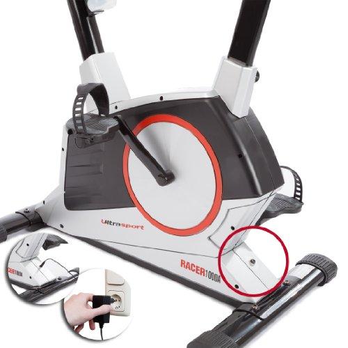 Ultrasport Heimtrainer Racer 900M/1000A mit Handpuls-Sensoren inkl. Trinkflasche - 4
