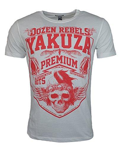 Yakuza Premium Herren T-Shirt YPS 2419 BLOODHUNTER WHITE Weiß