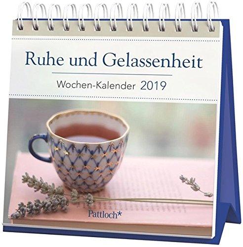 Ruhe und Gelassenheit - Mini-Kalender 2019: Wochenkalender zum Aufstellen m. Fotos u. Zitaten, Spiralbindung, 10,5 x 10,5 cm