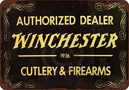 cwb2jcwb2jcwb2j 1935 Authorized Winchester Dealer Reproduction Metal Sign 8  x 12