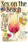 Schatzmix Cocktail Rezept Recipe Sex on The Beach Vodka USA helle Hintergrund blechschild