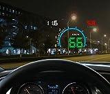 12V Digital Auto HUD OBD Head Up Anzeige KM / H MPH Tacho + Überdrehzahl Alarm + Motor Problem Alarm Wassertemperaturanzeige Auto Windschutzscheibe Projektor mit Reflektierender Film , luxury color hd e350-hud+ luxury gift