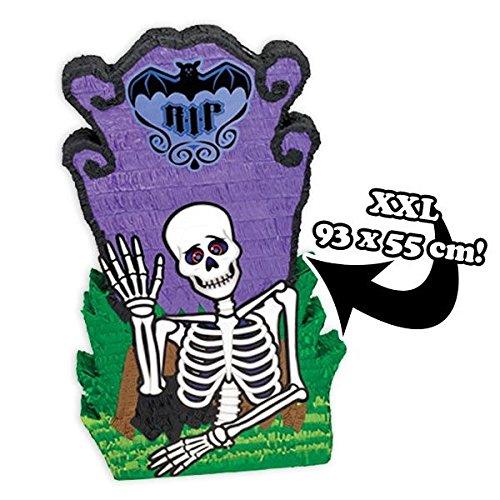 Amscan Pinata Skelett mit Grabstein für Gruselparty Spiele/Halloween Partyspiele Kinder