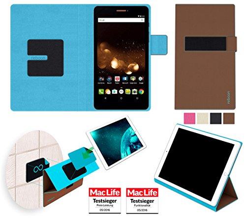 reboon Acer Iconia Talk S A1-734 Hülle Tasche Cover Case Bumper | Braun | Testsieger