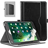 MoKo Case For IPad 2017 9.7 Inch - Slim Folding Stand Folio Cover Case For Apple New IPad 9.7 Inch (2017 Release, 5th Gen) With Document Card Slots, Multiple Viewing Angles, BLACK