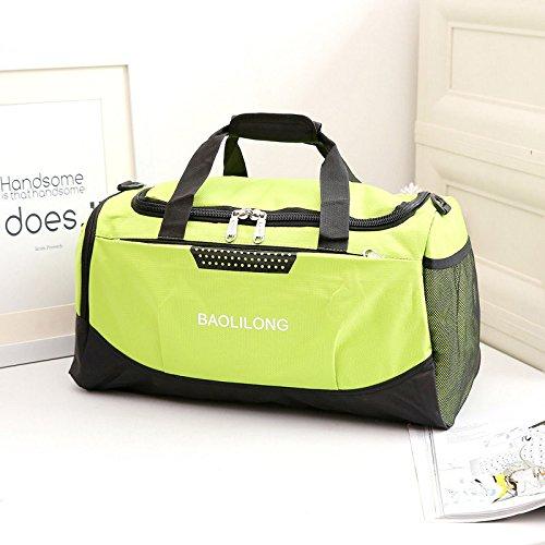 LaDicha Wasserdichte Sport Duffels Reisetasche Training Gym Fitness Taschen Multifunktions-Schultertasche - Grün
