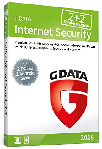 G DATA Internet Security (2018)/Antivirus Software/Virenschutz für 2 Windows-PC und 2 Android-Geräte/1 Jahr/Trust in German Sicherheit